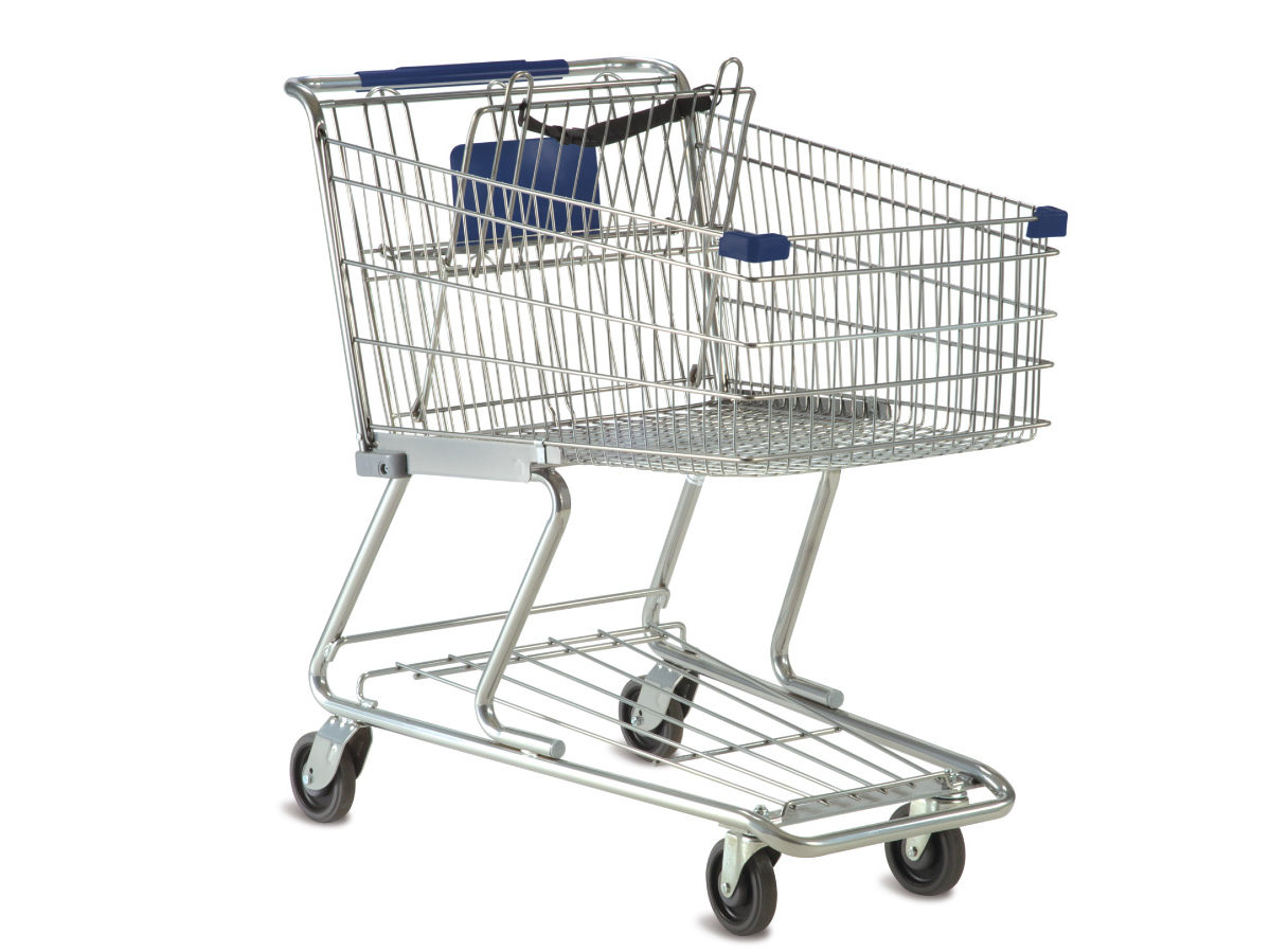 shopping cart covered in techkrome cover